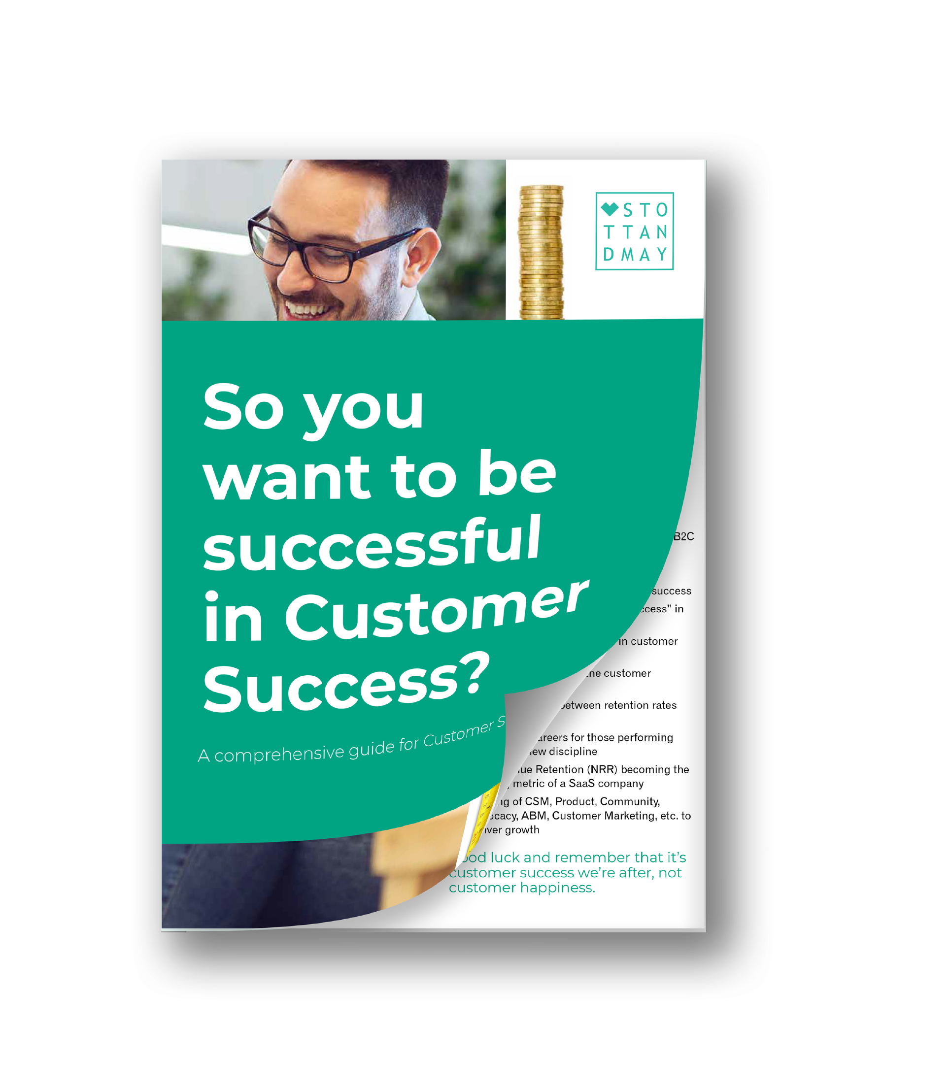 So you want to be Successul in Customer Success with white Background