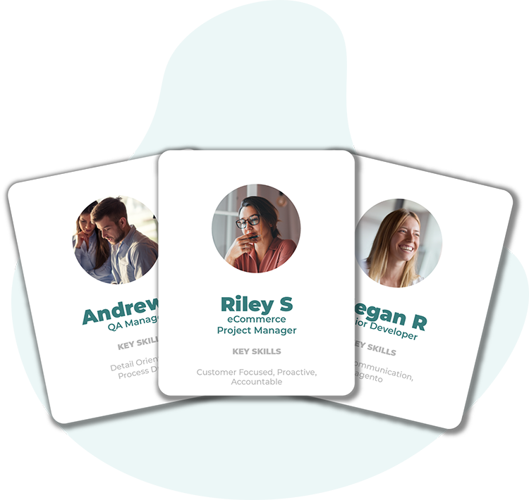Team cards ecommerce