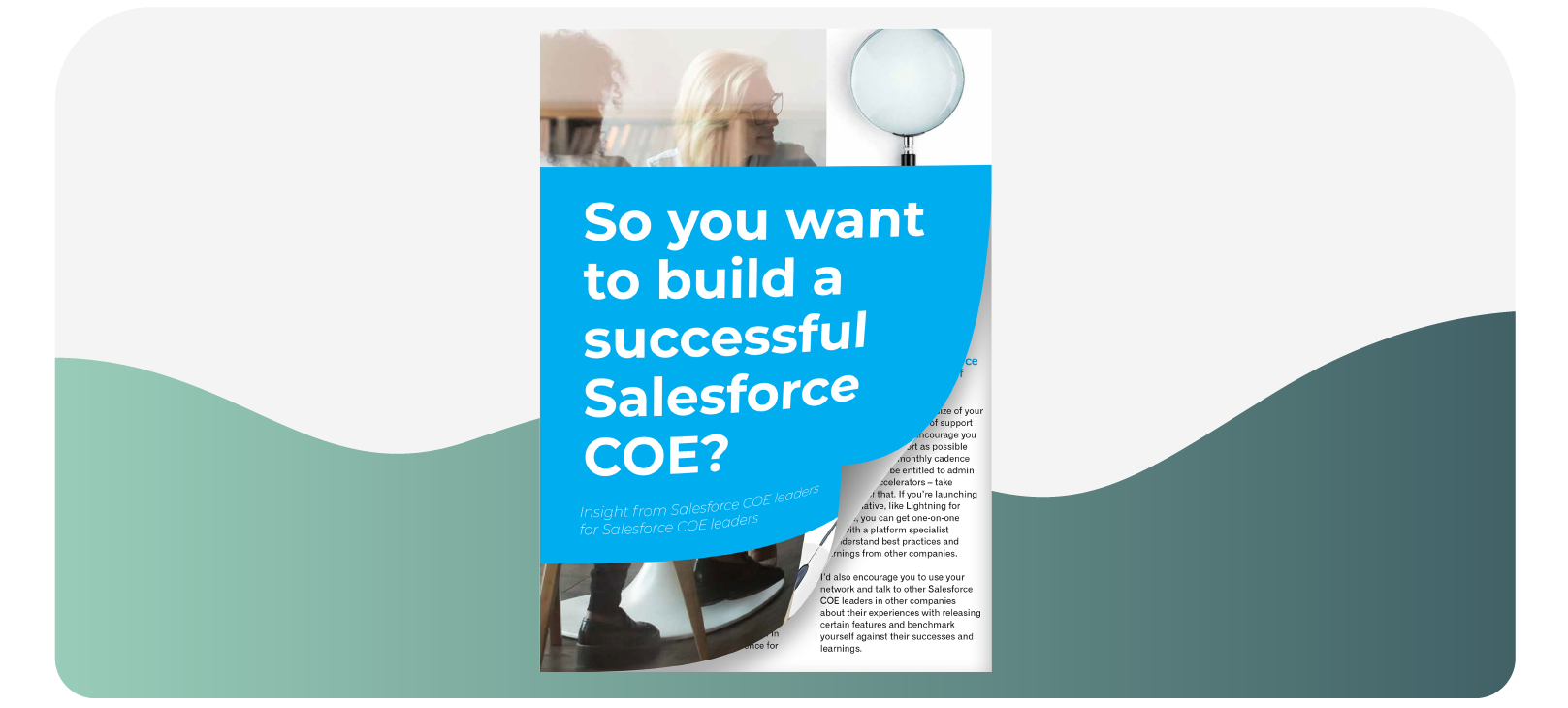 Stott and May So you want to build a Successful Salesforce COE? report